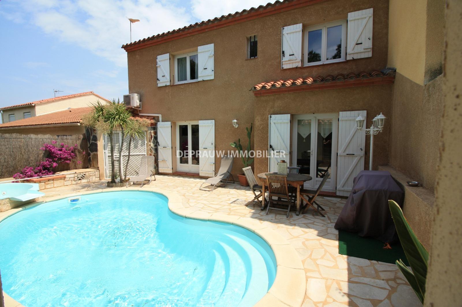 vente perpignan sud villa t5 climatis e avec piscine et. Black Bedroom Furniture Sets. Home Design Ideas